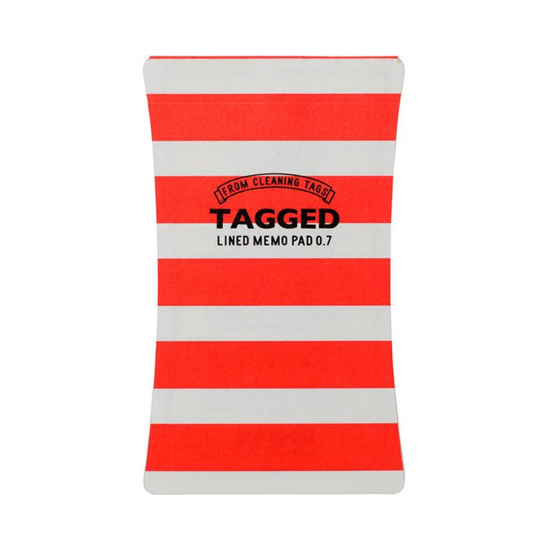 TAGGED MEMO PAD ボーダー02(S)