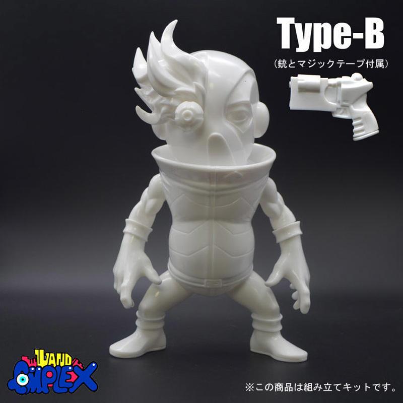 「SHOCK-EYE」(無彩色ソフビキット)Type-B