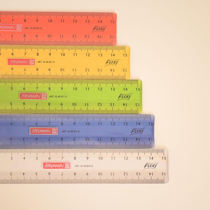 BRUNNEN 「flexi」15cm定規(左右兼用)