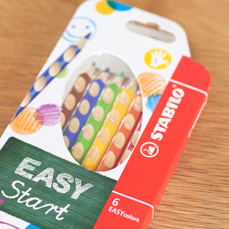 STABILO Easy colors 色鉛筆 6色セット・左手用(左利き用)