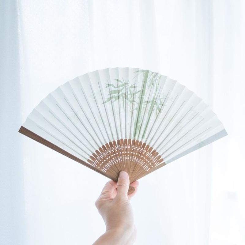 扇子「緑笹竹」・左手用(左利き用)