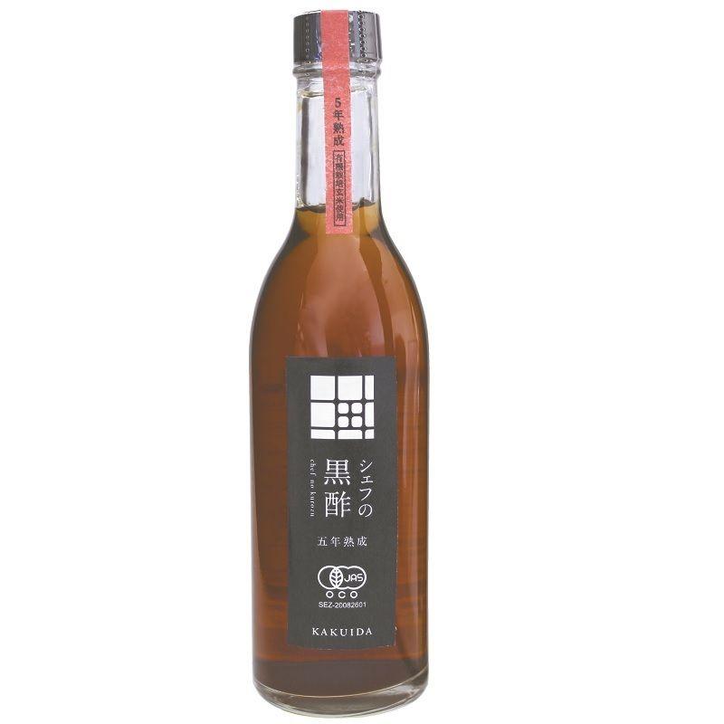 福山黒酢 シェフの黒酢(5年熟成有機玄米黒酢) 100ml