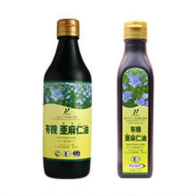 カナダ産有機亜麻仁油 185g(200ml) 角瓶