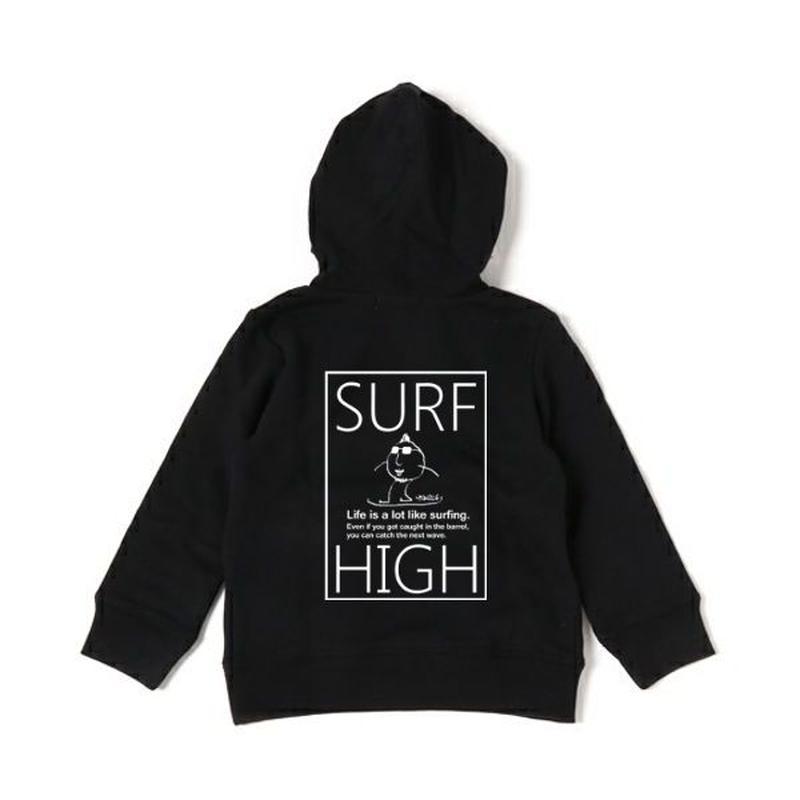 スウェットパーカー「SURF HIGH」 black/110/130