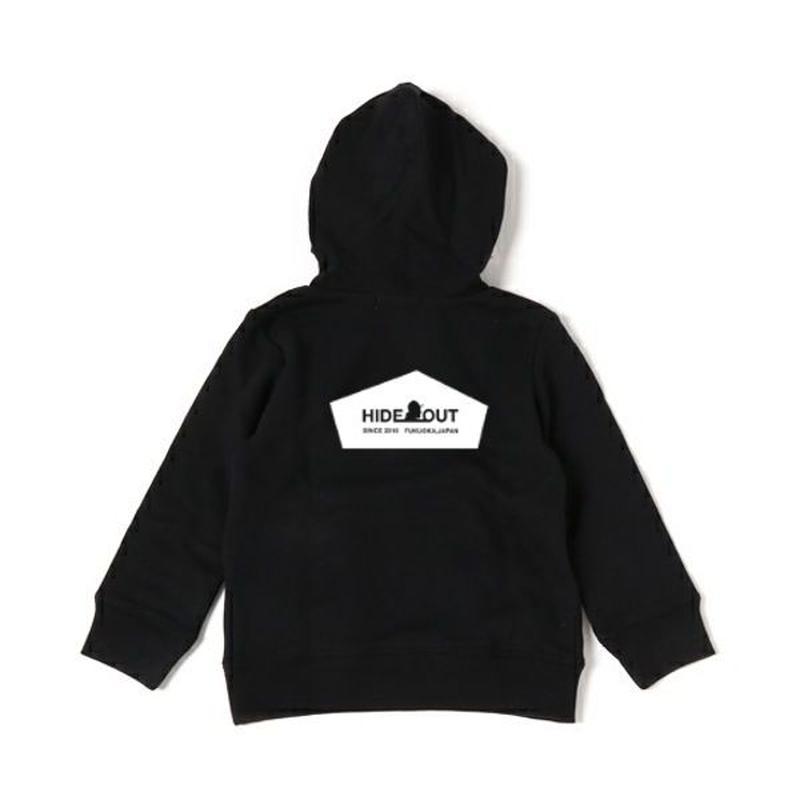スウェットパーカー「HIDEOUT LOGO」 black/110/130