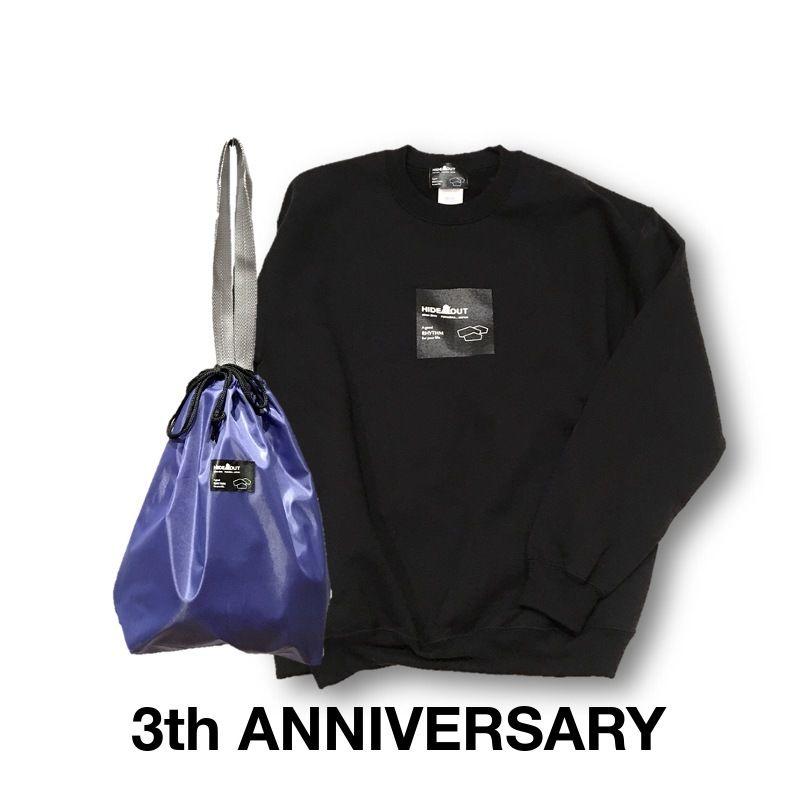 3周年記念限定ロゴスウェット&巾着トートセット BLACK/M/L