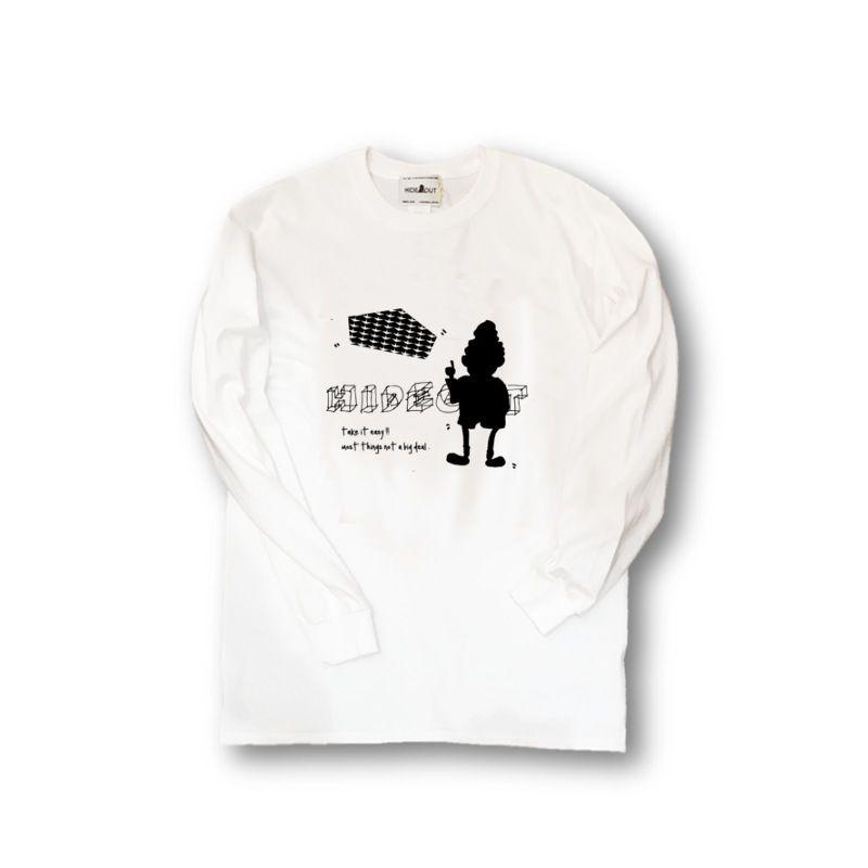 ロンT「LOGOinLOGO」WHITE/M/L/