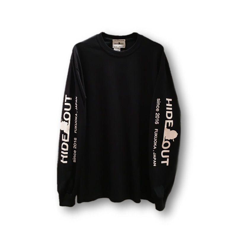 ロンT「袖ロゴ」BLACK/M/L/XL