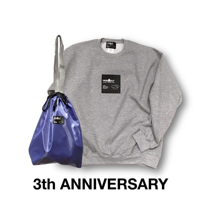 3周年記念限定ロゴスウェット&巾着トートセット GREY/M/L