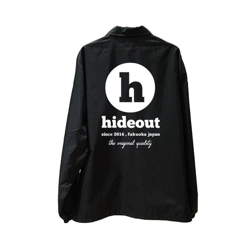 コーチジャケット「h logo」black / s / m / l