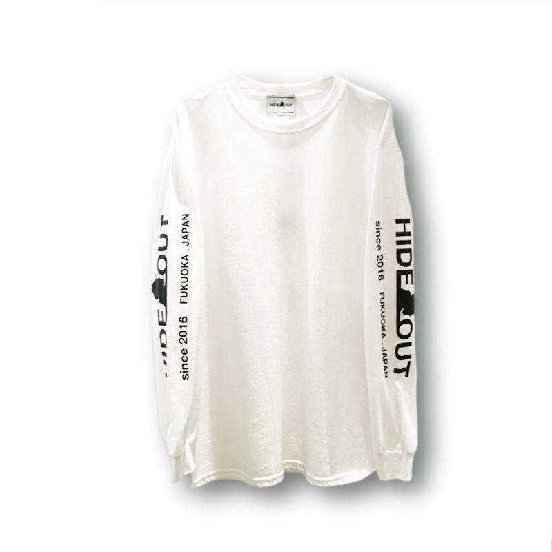 ロンT「袖ロゴ」WHITE/M/L/XL