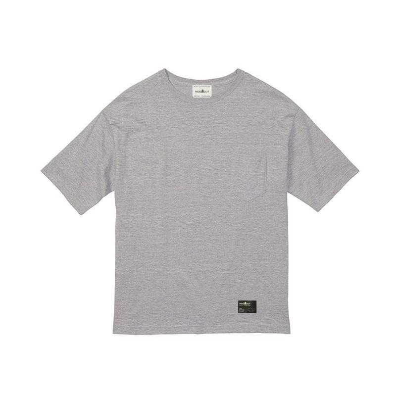 1ポケ/ブランドタグBIG-Tシャツ GREY / M / L