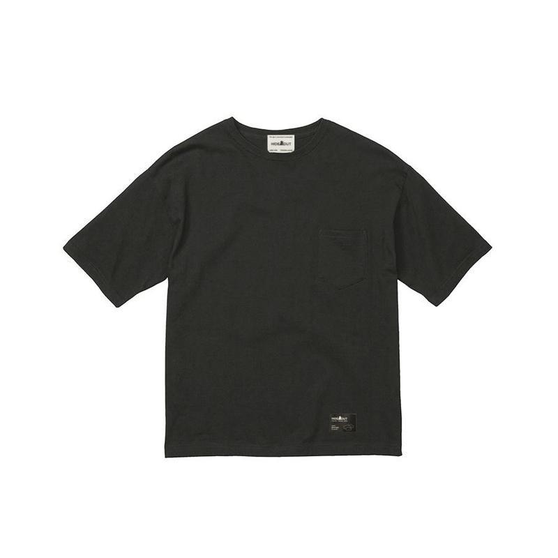 1ポケ/ブランドタグBIG-Tシャツ BLACK / M / L