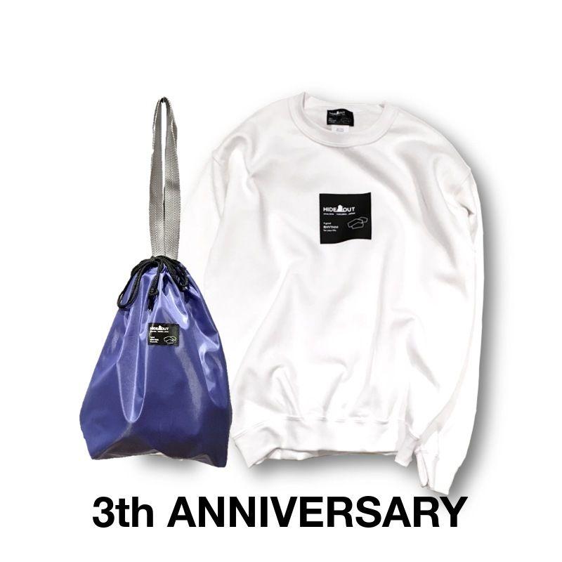 3周年記念限定ロゴスウェット&巾着トートセット WHITE/M/L