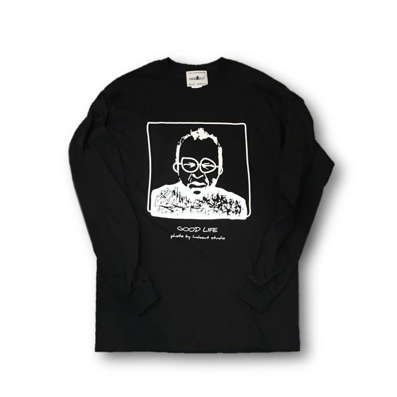 ロンT「おじさん」BLACK/M/L/XL