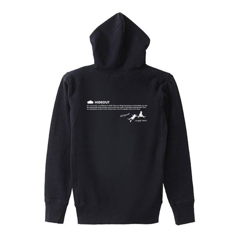 ヘビーオンスパーカー「SKATE-BOYS」 BLACK/L/XL