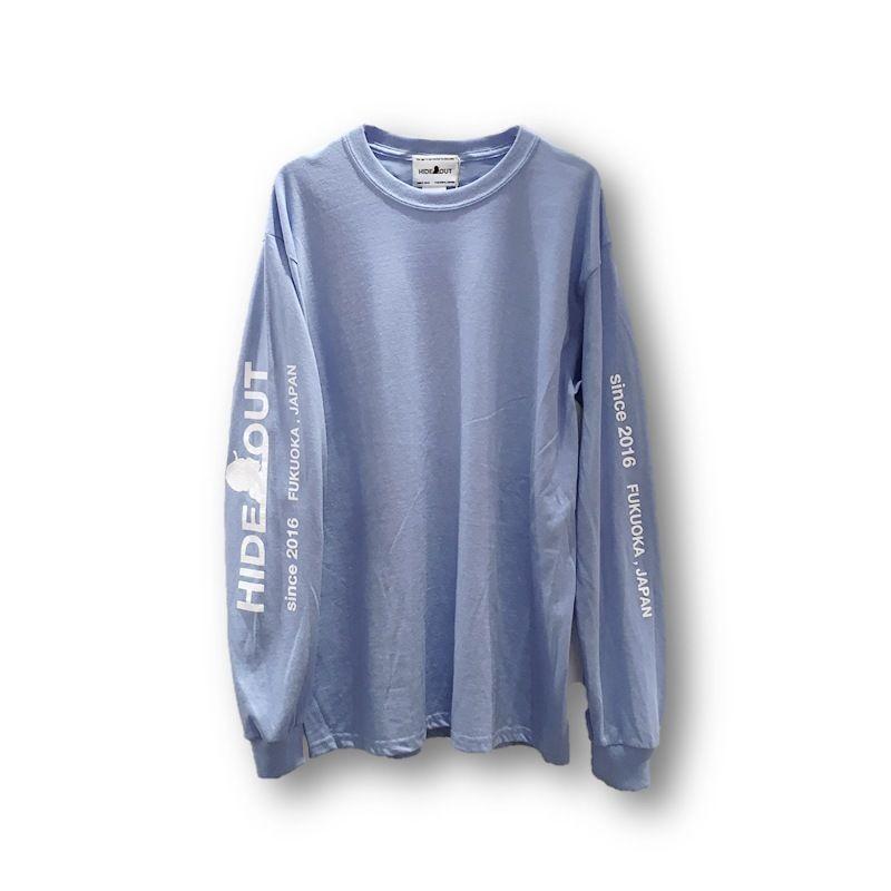 ロンT「袖ロゴ」BLUE/M/L/XL