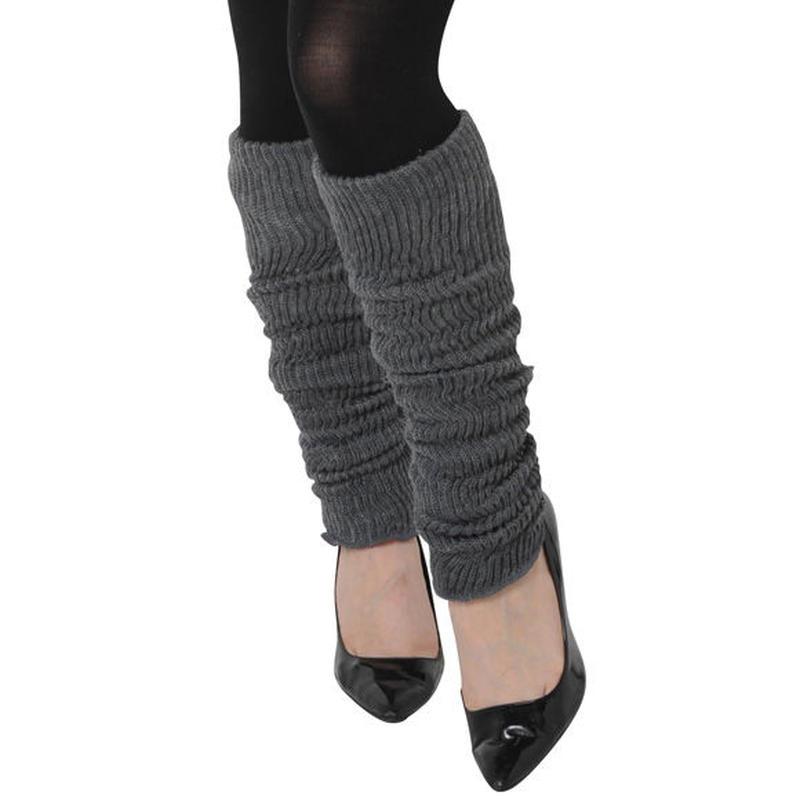 LC絹ウール二重織レッグウォーマーゆったりロング