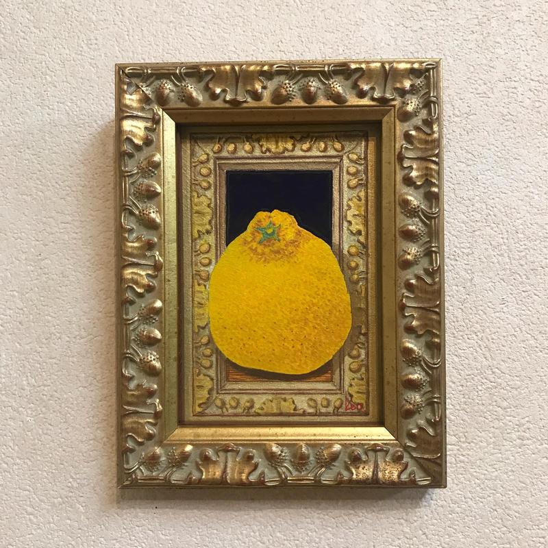 「デコポン」板絵テンペラ画