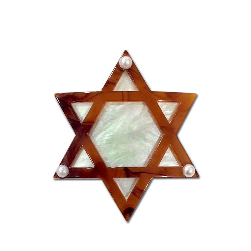 Hexagram Brooch