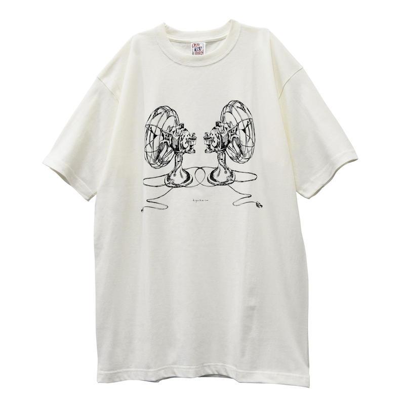 扇風機Tシャツ/Natural/XXL