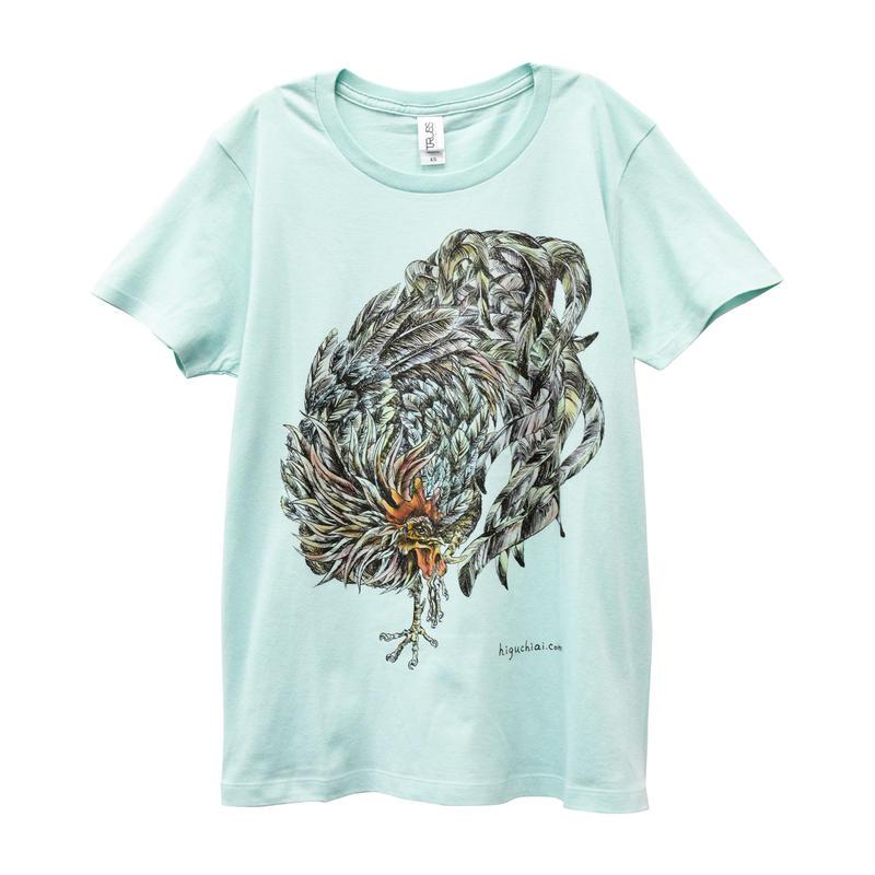にわとりTシャツ/Light blue