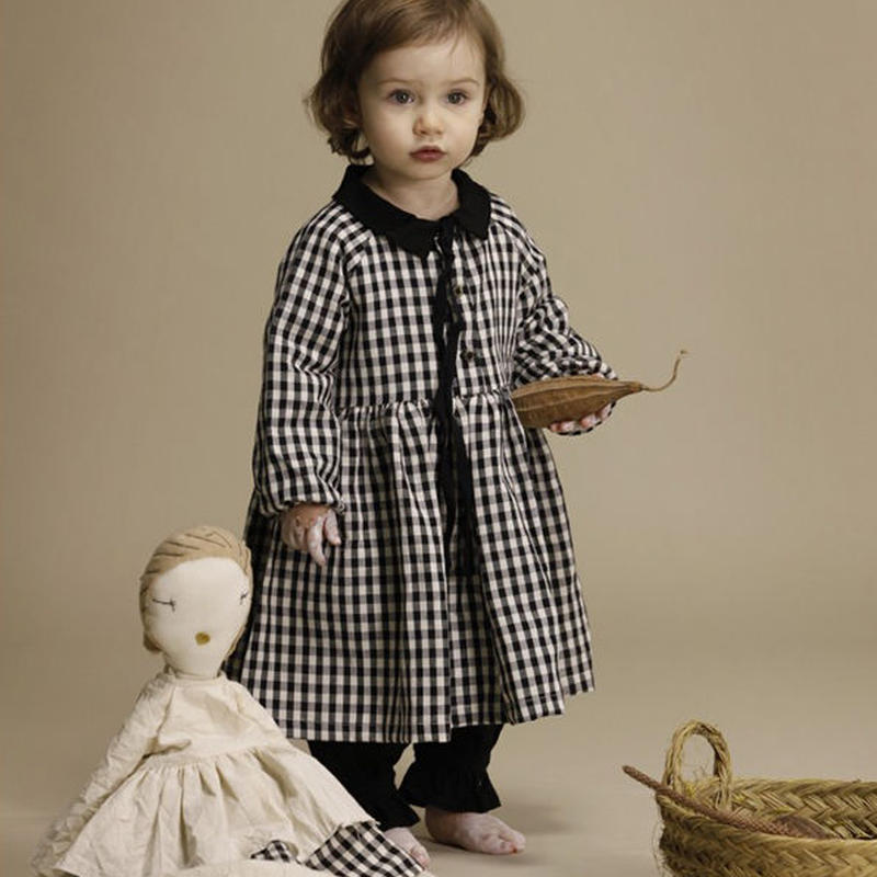 little creative factory / Baby Checked Dress
