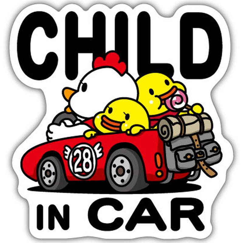 にわとりかあさん CHILD IN CAR 反射マグネットシート 135mm×142mm