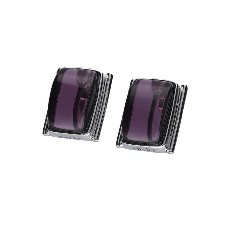 ガラスイヤリング / purple