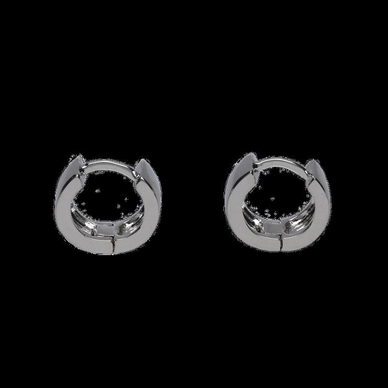 ミニフープピアス / silver