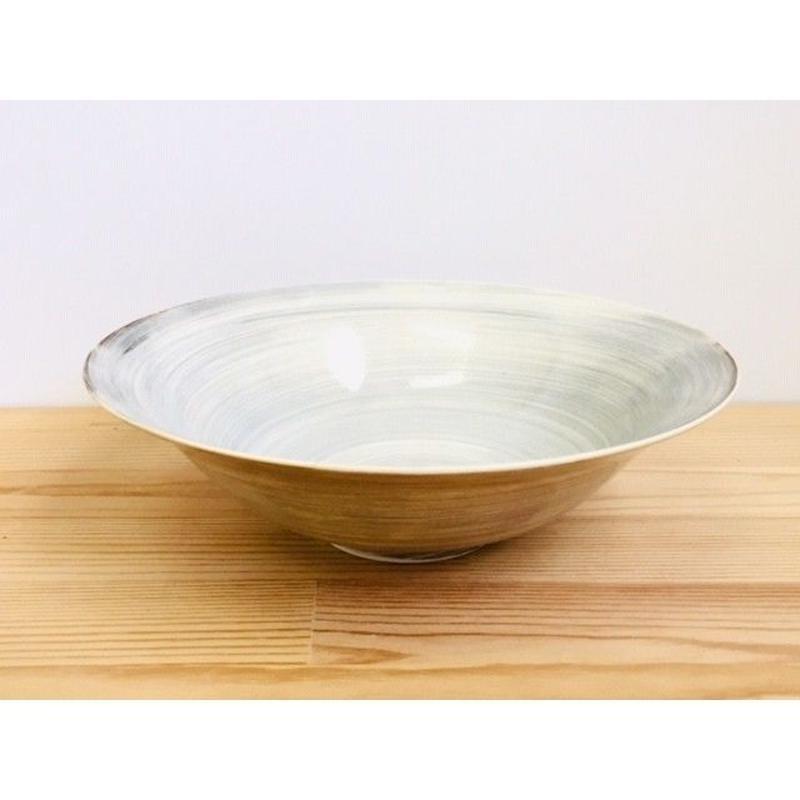 粉引7寸平鉢
