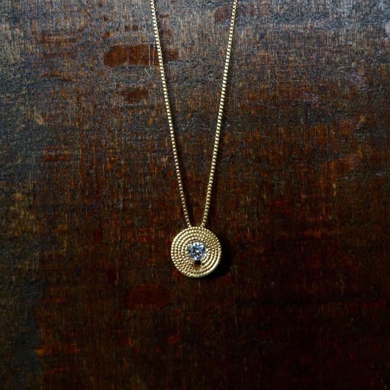 鍵穴ネックレス(ダイヤモンド)K18YG