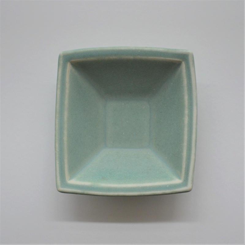 Awabi ware 四方小鉢 青磁