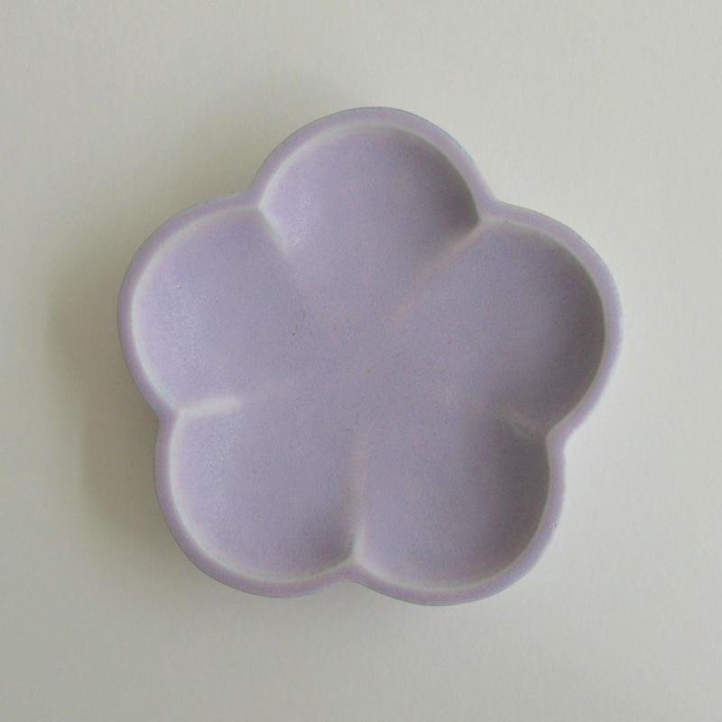 Awabi ware 花型豆皿 パープル