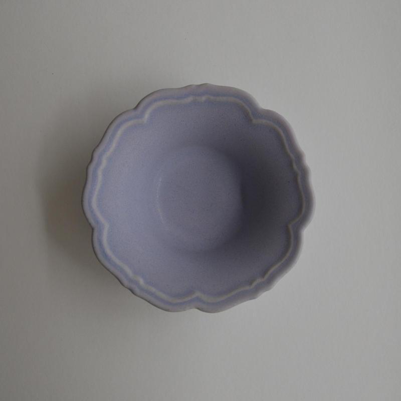 Awabi ware 輪花小鉢 パープル