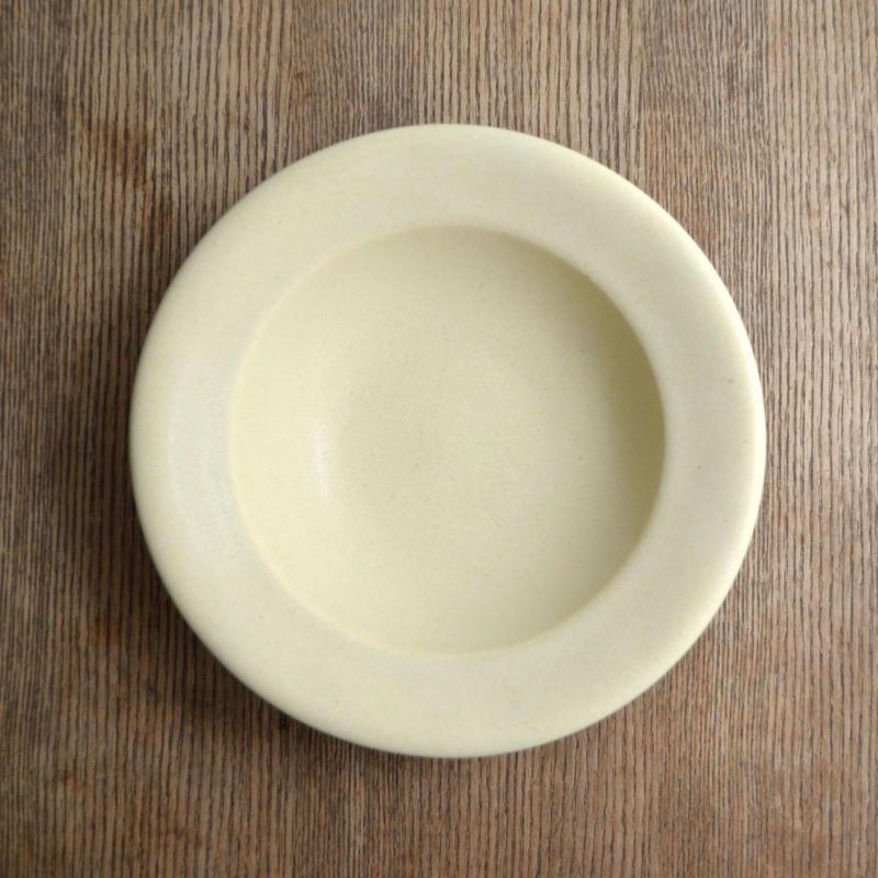 Awabi ware リムスープ皿 アイボリー