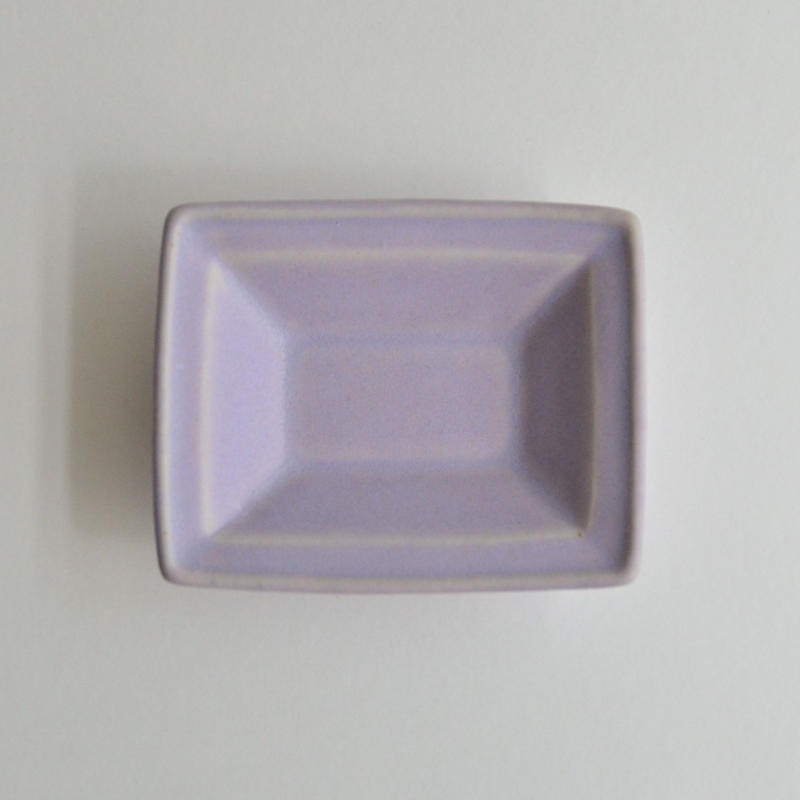 Awabi ware 長方豆皿 パープル