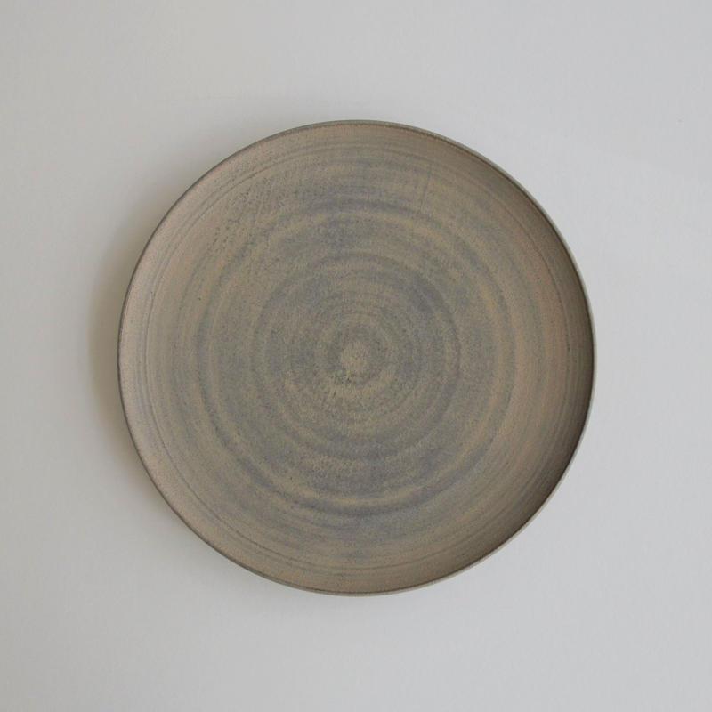 富井貴志 白漆丸皿 Φ180