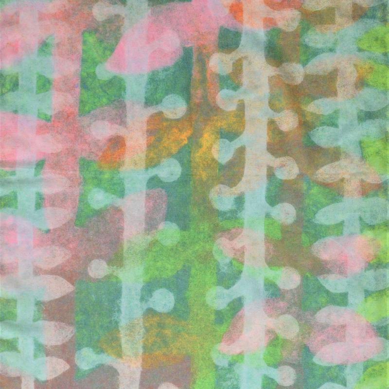 にしむらあきこ 和紙造形ストール 『 緑の手 』