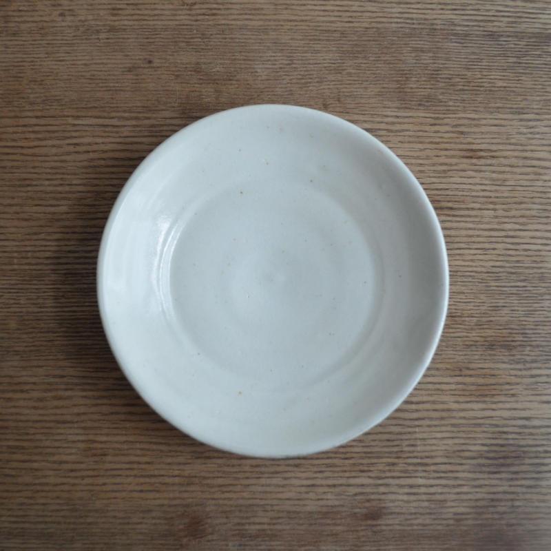 高木剛 粉引 皿 5寸
