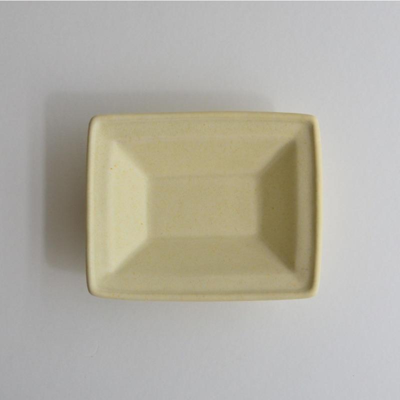 Awabi ware 長方豆皿 アイボリー