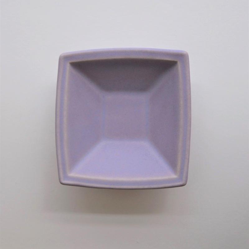 Awabi ware 四方小鉢 パープル