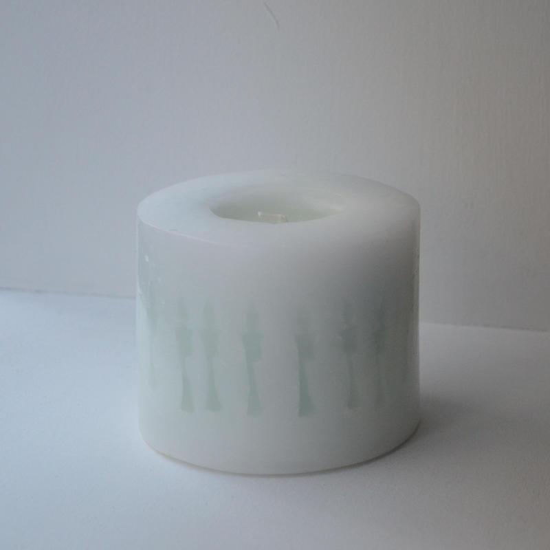 鈴木有紀子 ロウソク シルエット green × white Lemongrass