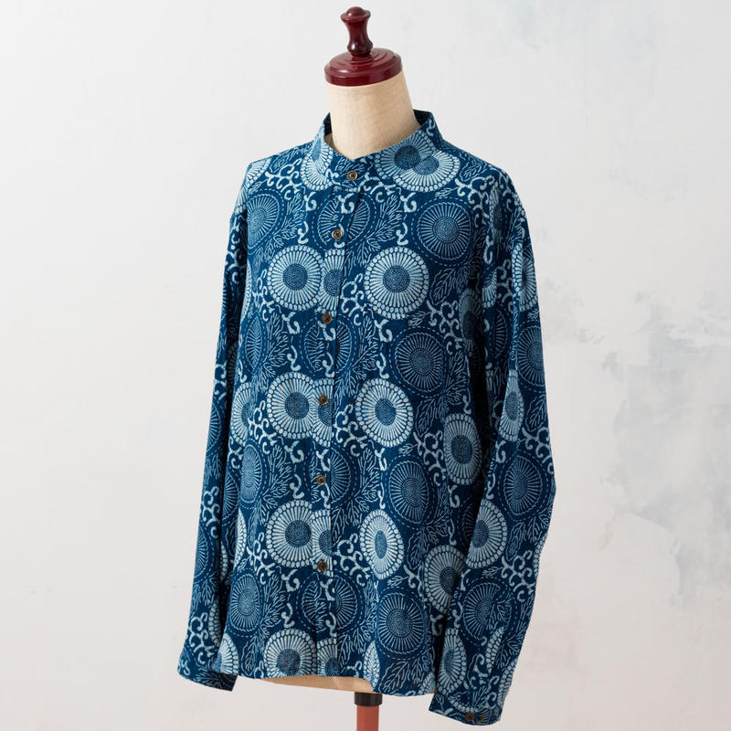 Indigo shirt:ladies (Dahlia)