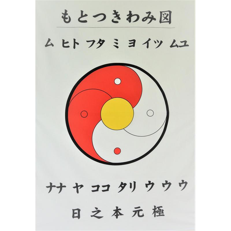 もとつきわみ図 (旗)陰