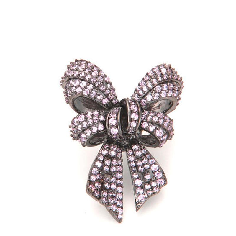 Elegant ribbon Floating ring
