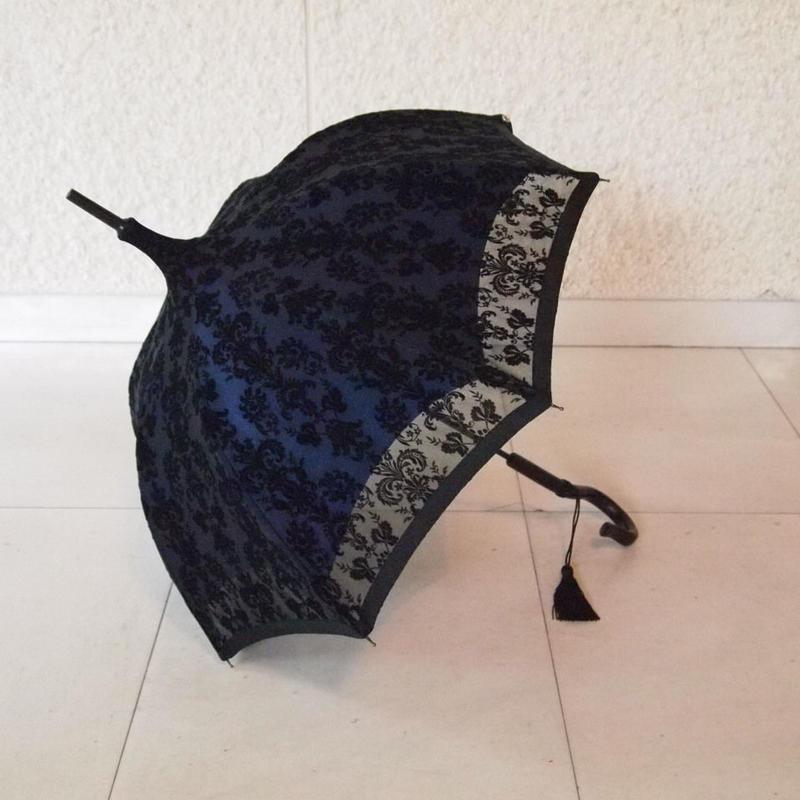 ブルーレース日傘