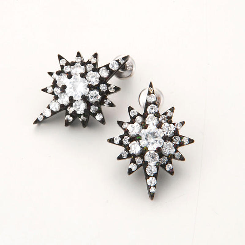 Southern Cross pierced earring-black