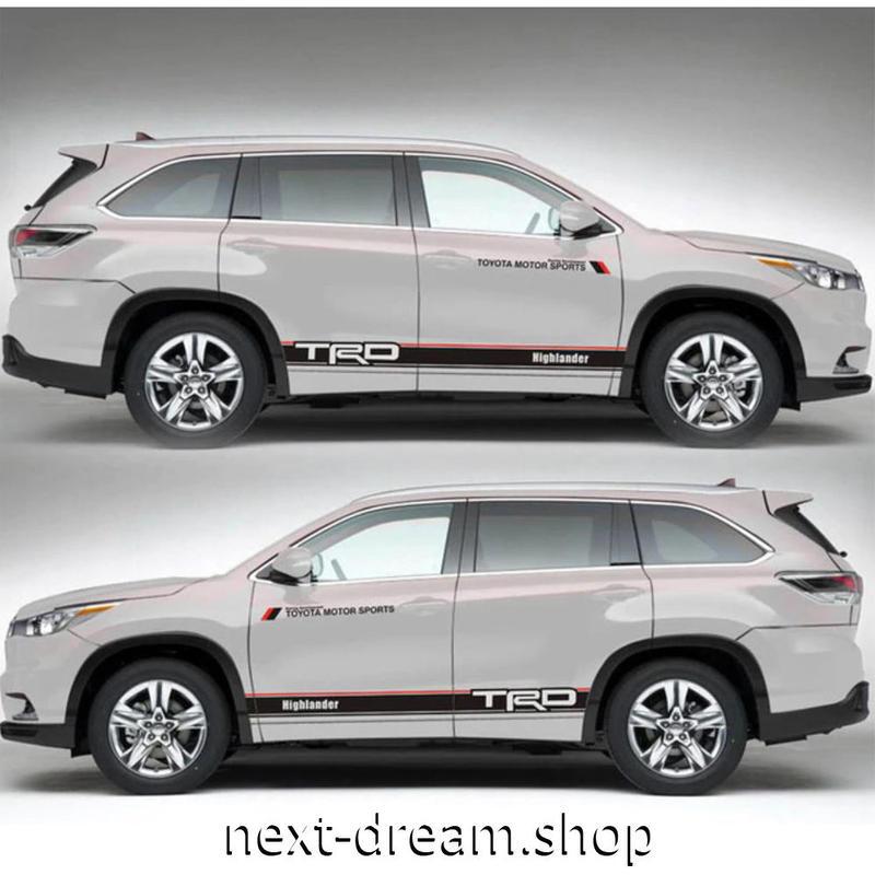ステッカー 車 デカール TOYOTA トヨタ 2013-2018 ハイランダー 外装 サイド ボディ 自動車 カーアクセサリー m02041