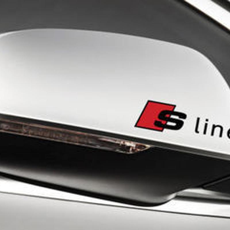 アウディ ステッカー Sline 2個入 ドアミラー A6 A5 A7 A3 A4 Q3 Q5 S4 S6 S8 TT h00386